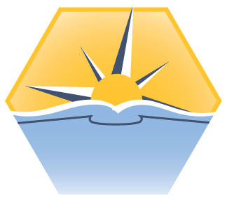 Illustration: Crew Code seal showing the Alma logo as a book and compass rose