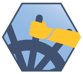 Illustration: Crew Code seal showing a hand on a ship's wheel