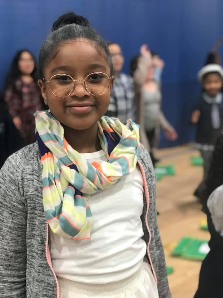 Alma scholar dressed up for the 100th day of school in 2019