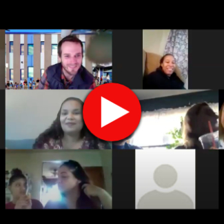 Screen capture of video family meeting