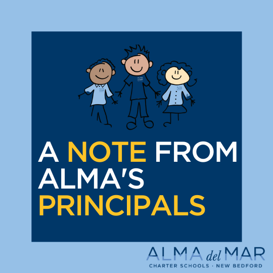 A note from Alma's principals