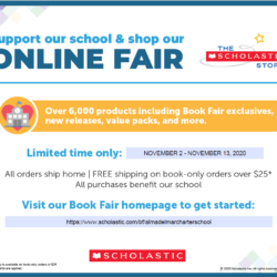 Support our school & shop our online Scholastic Book Fair!