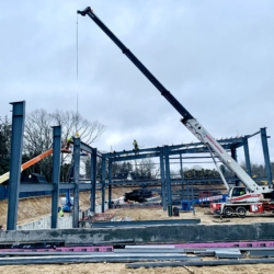 Steel beam structure of Douglass Campus
