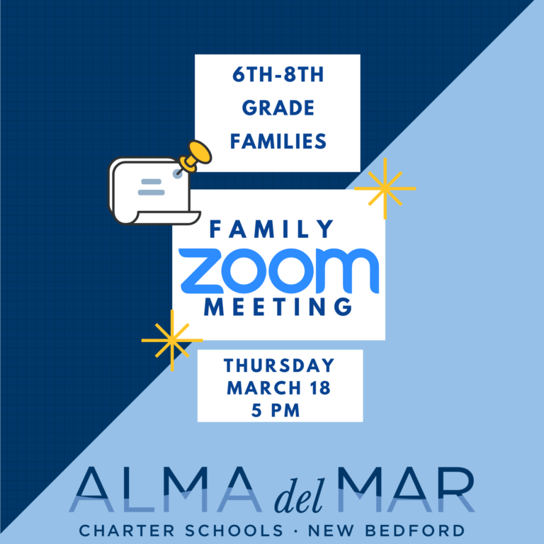 Alma Family Zoom for Grades 6-8 on March 18