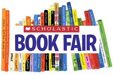 Scholastic Book Fair icon with stack of books