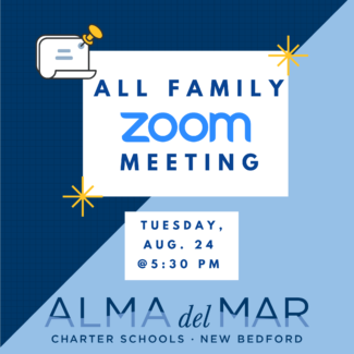 All Family Zoom Meeting on Tuesday, Aug. 24 at 5:30 pm